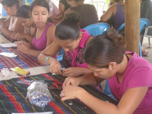 EMANA Youth participants on a jewlery workshop