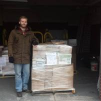 Jason supervising the shipment