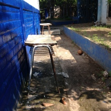 Desks outside